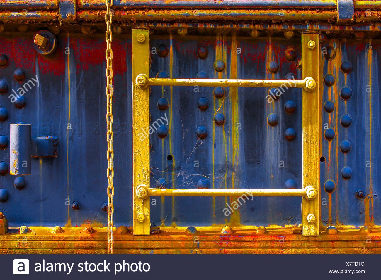 Old Railroad Wagon Detail, Stock Photo