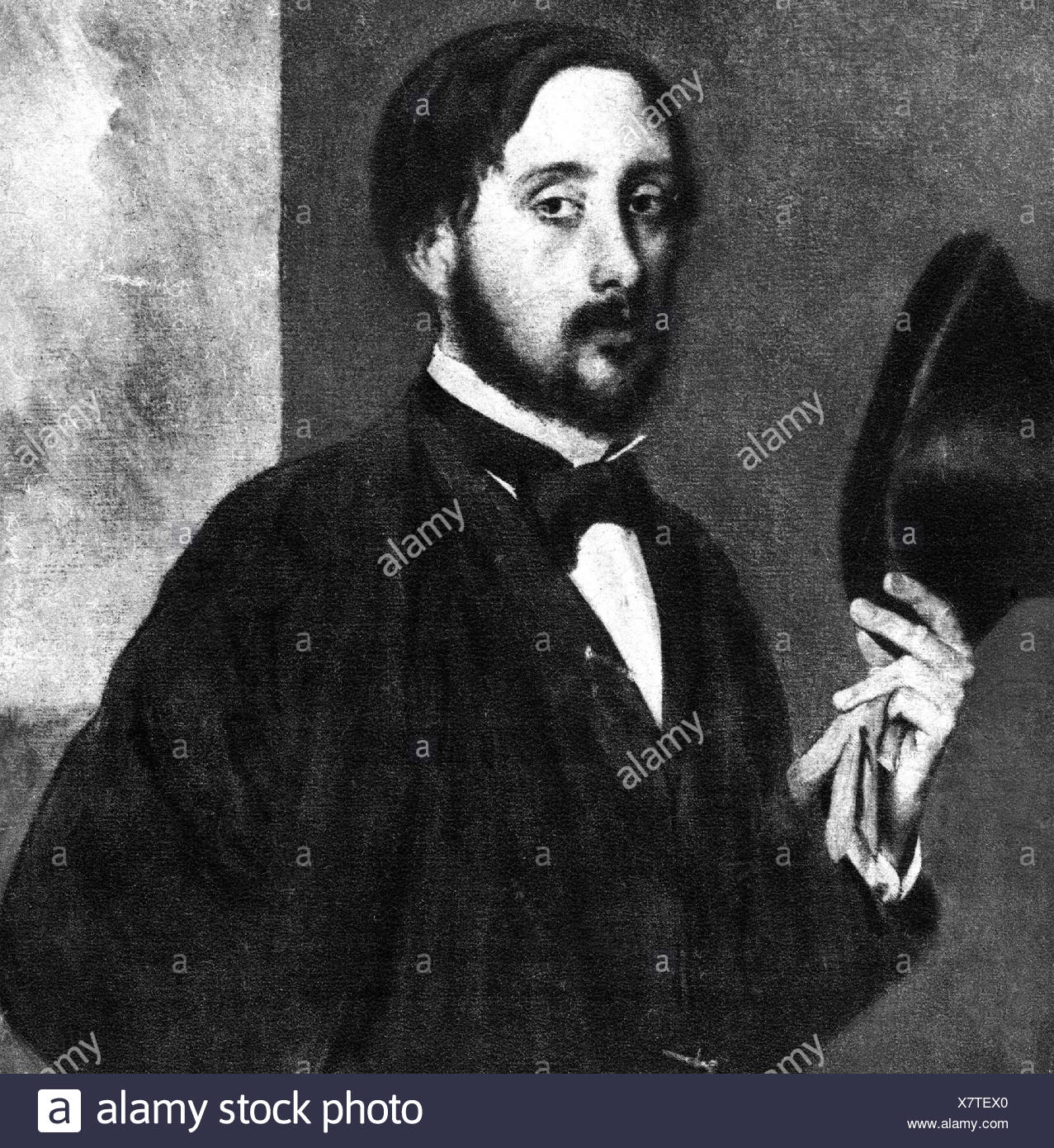 Degas, Edgar, 19.6.1834 - 26.9.1917, French painter, self-half length, Additional-Rights-Clearances-NA - Stock Image