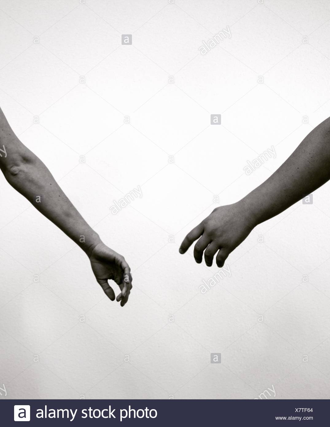 Letting go - Stock Image