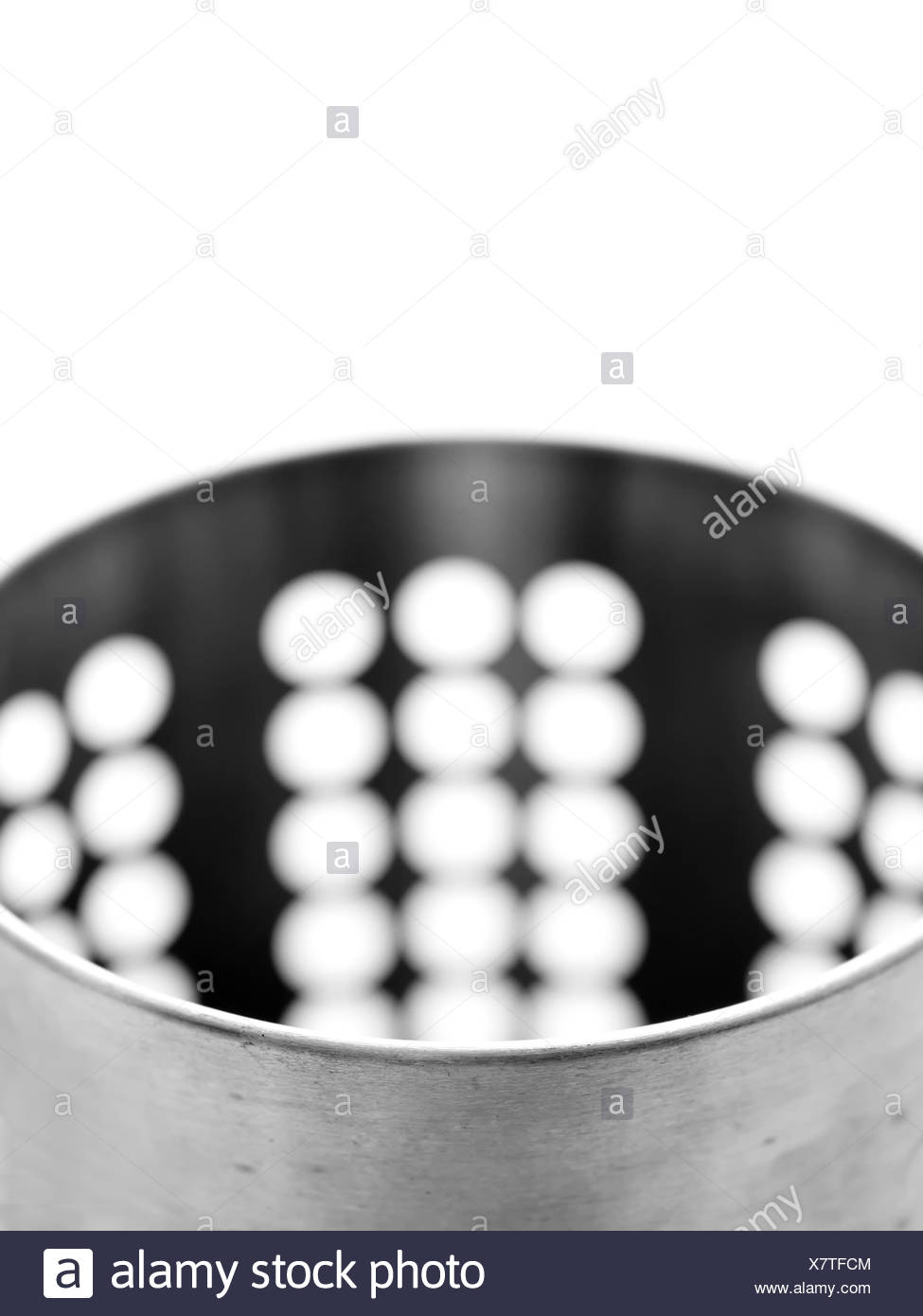 metal container - Stock Image