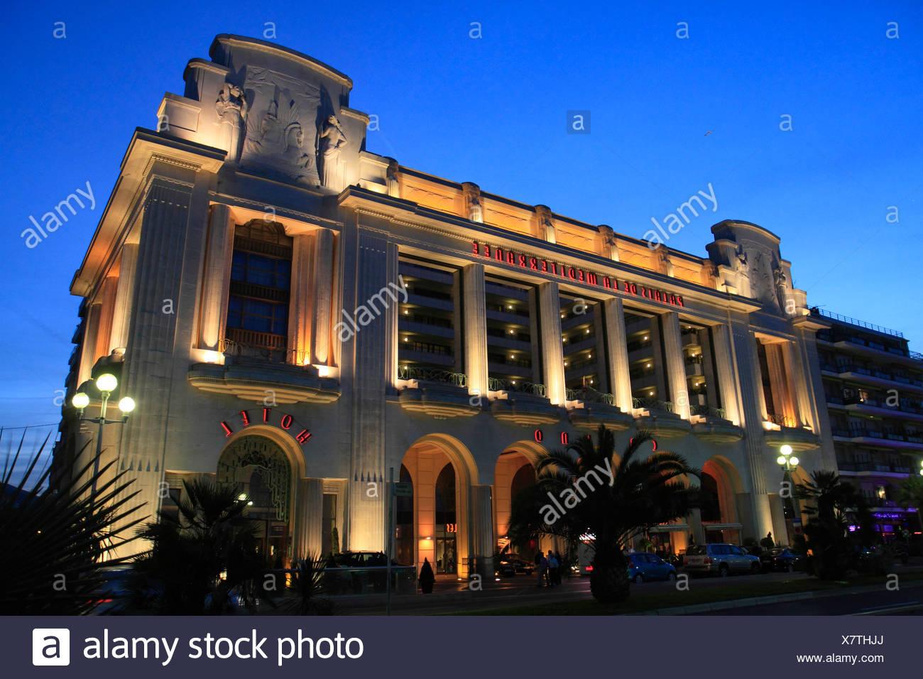 Hotel and Casino Palais de la Mediterranée, Promenade des Anglais, Nice, Département Alpes Maritimes, Région Provence Alpes Côte - Stock Image