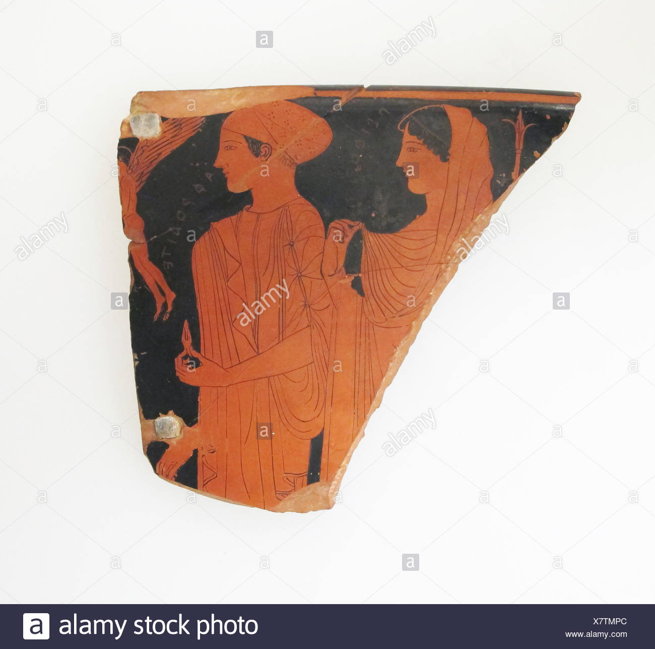 Fragment of a terracotta skyphos (deep drinking cup