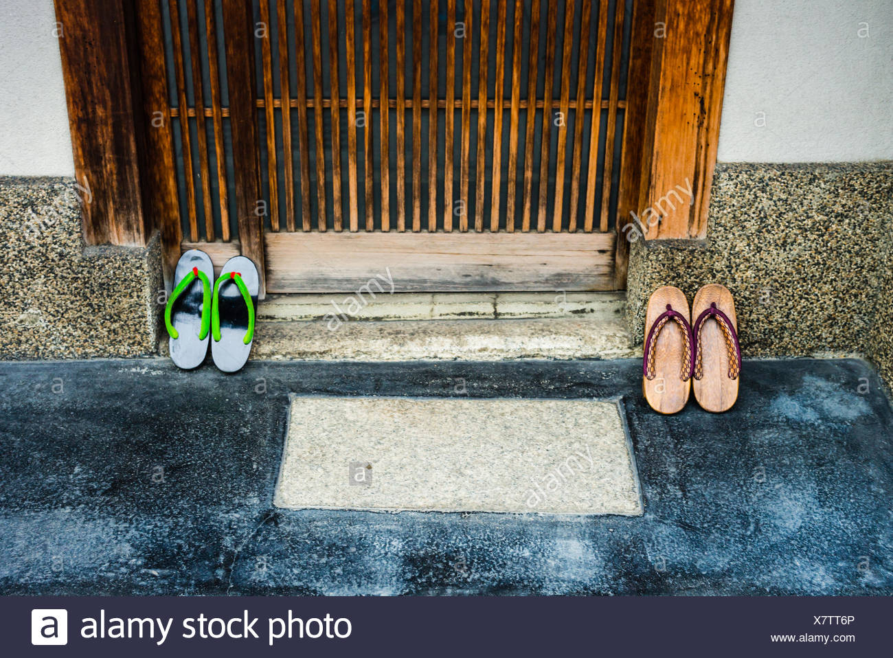Traditional Japanese sandals. - Stock Image