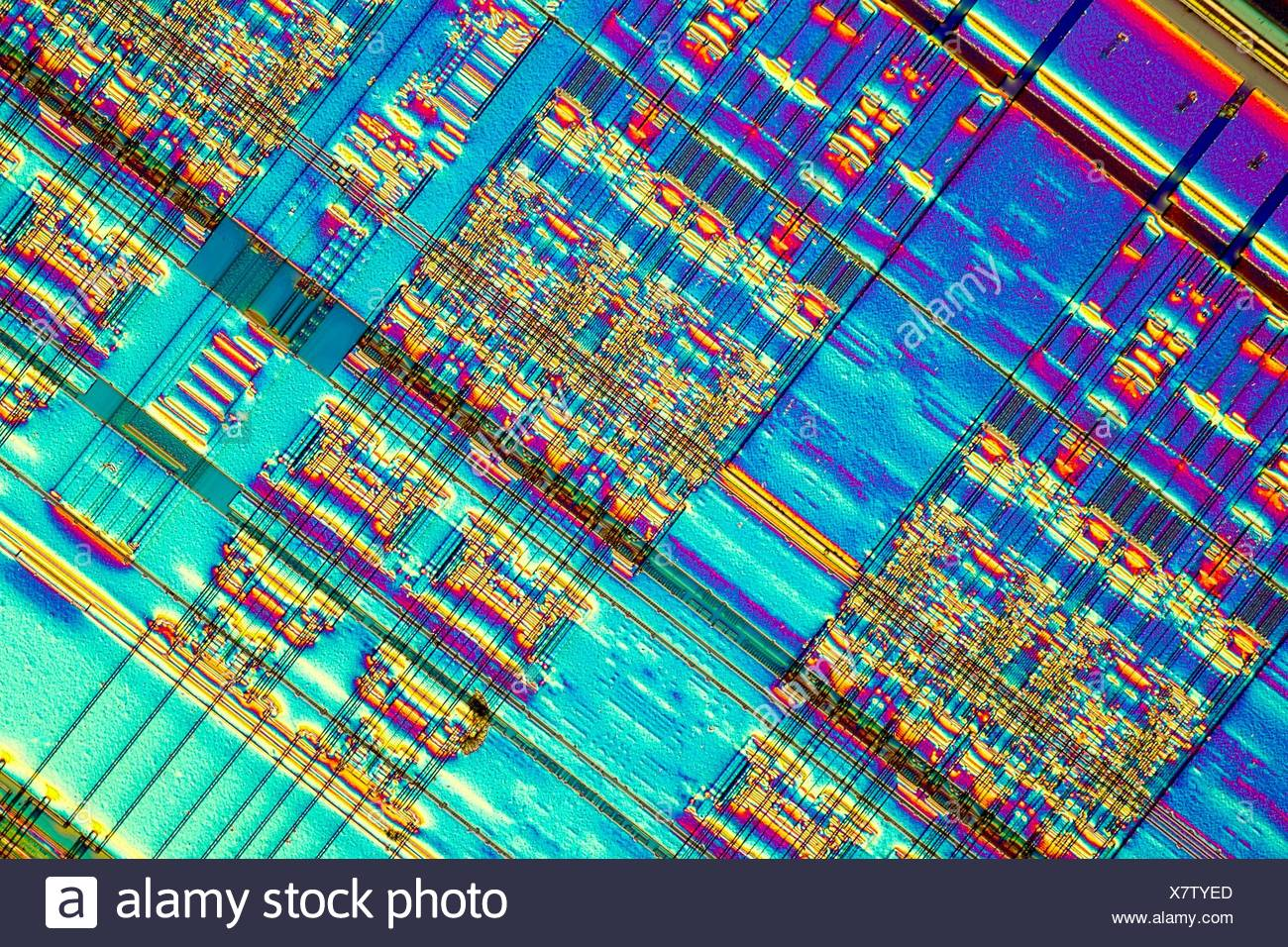 Chip Circuit Circuits Computer Stock Photos Most Popular Electronic Light Micrograph Of A Detail Ram Memory Is Type
