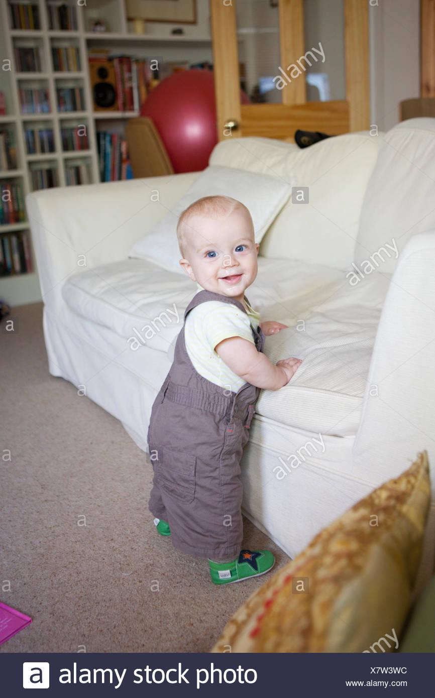 Baby cruising Stock Photo