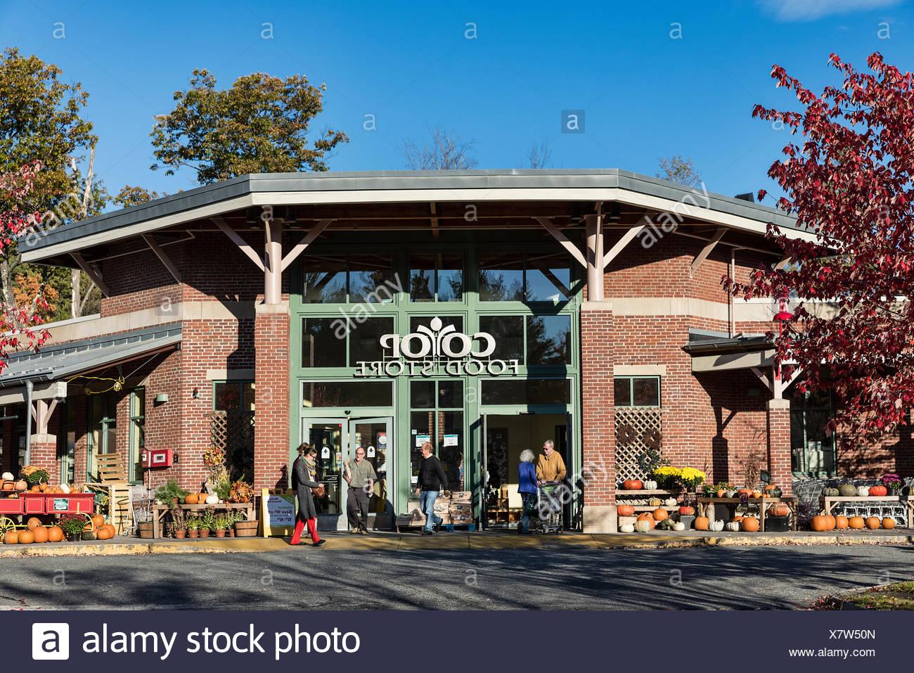 Coop, Food Store, Lebanon, New Hampshire, USA - Stock Image