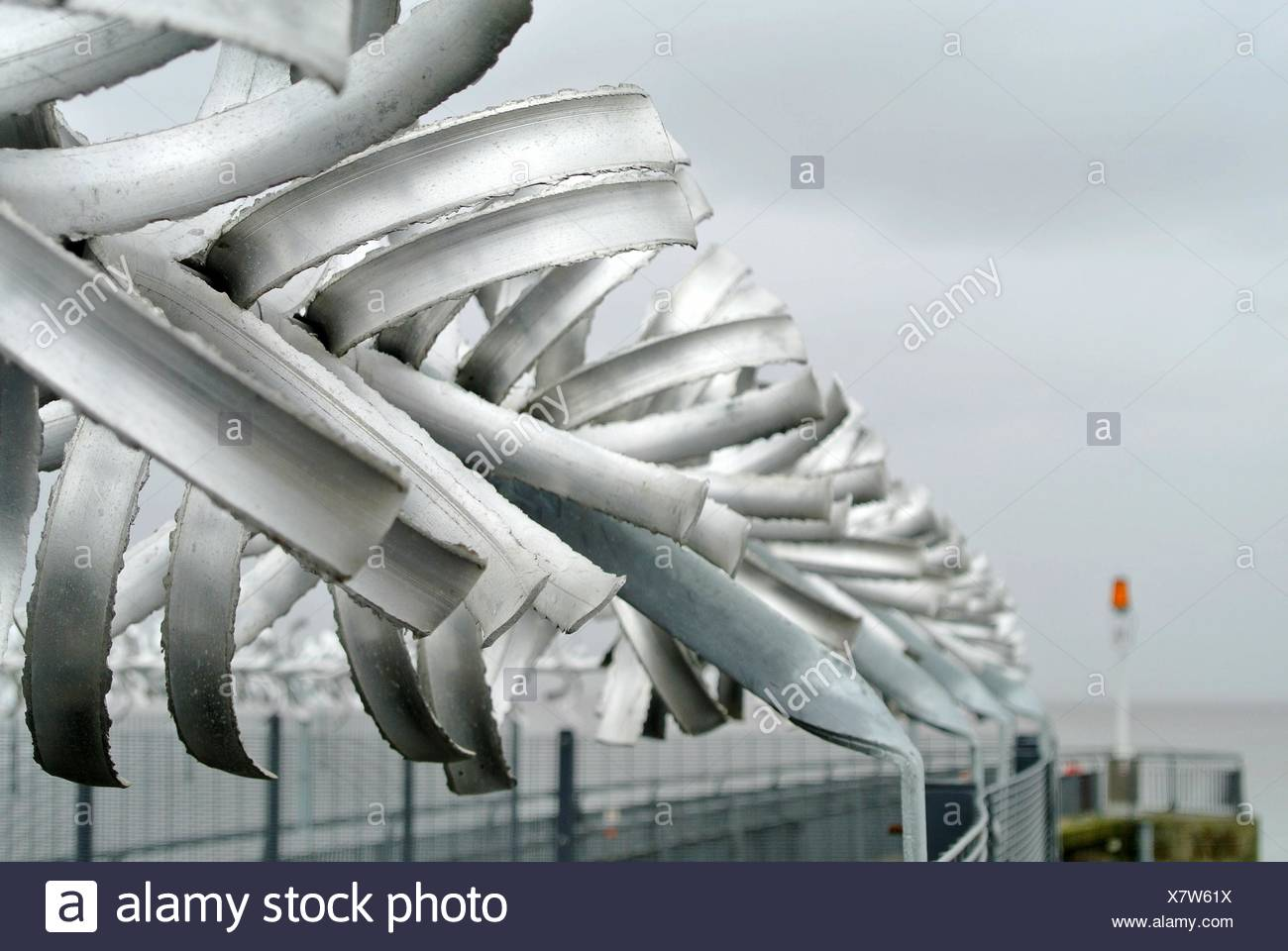Close-Up Of Security Fence - Stock Image