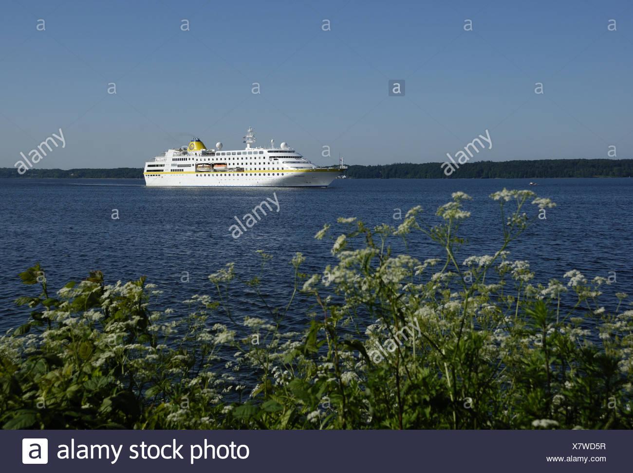 MS Hamburg in Flensburg - Stock Image