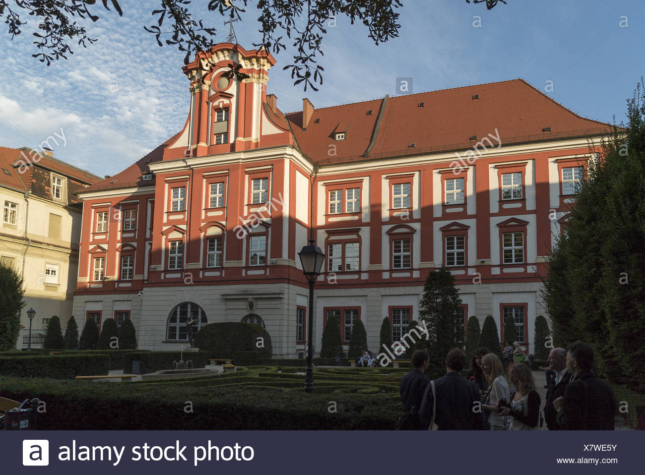 Ossolineum in Breslau / Wroclaw - Stock Image