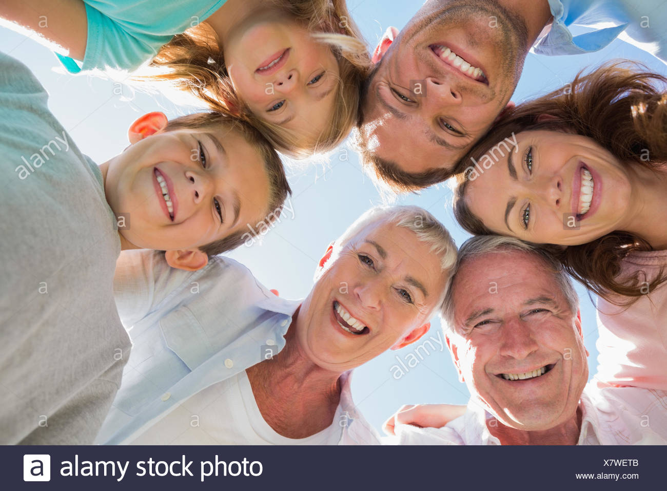 Smiling multi generation family Stock Photo
