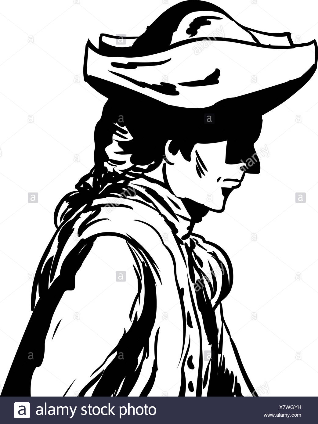 tricorn hat black and white stock photos images alamy 1890s Suit outlined man in tricorn hat over white stock image