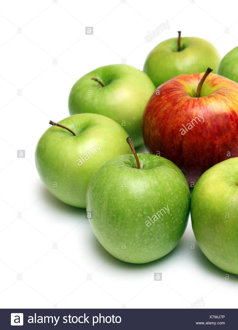 different concept with apples - Stock Image