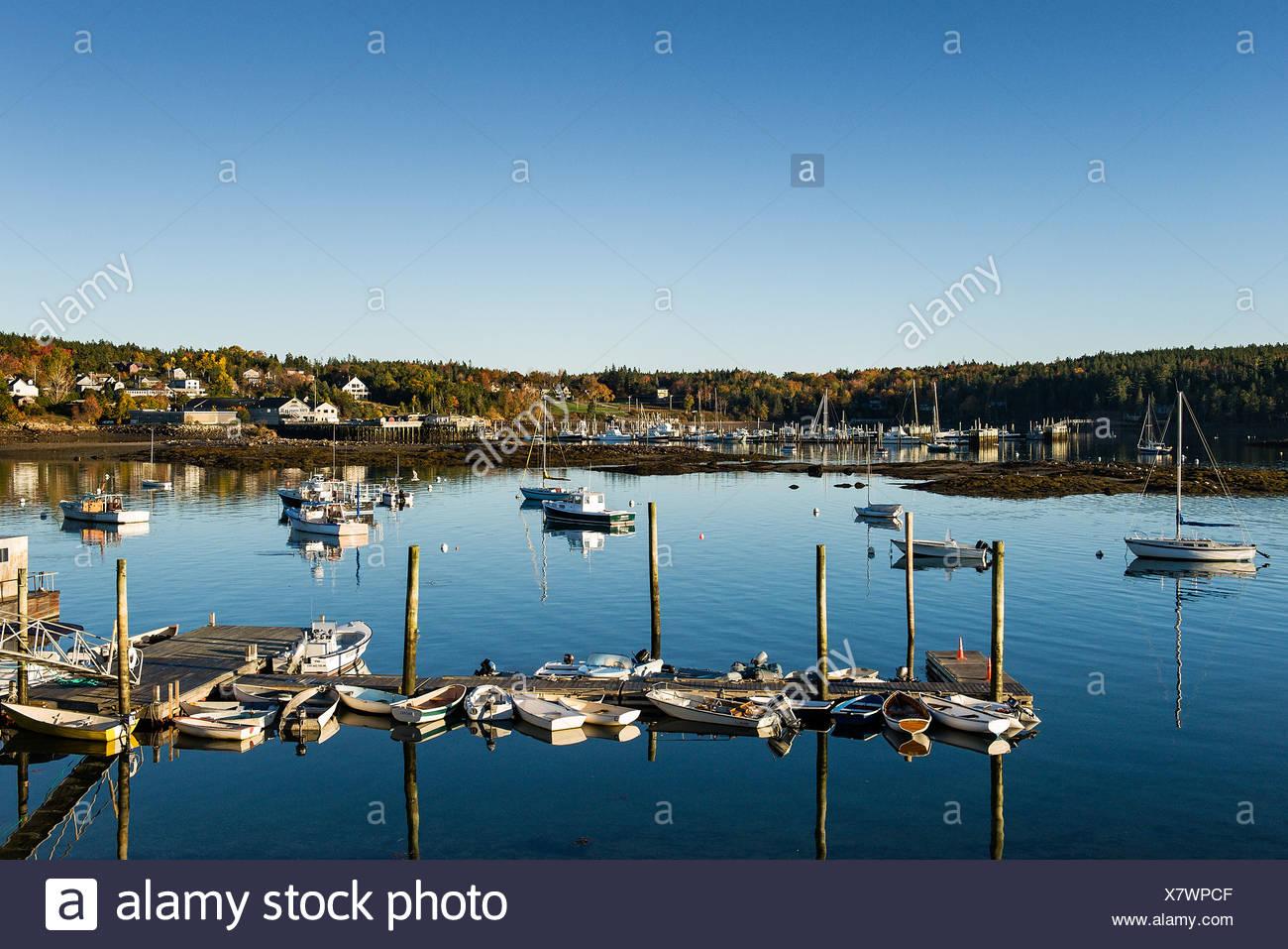 Scenic Southwest Harbor, Mt Desert Island, Maine, USA - Stock Image