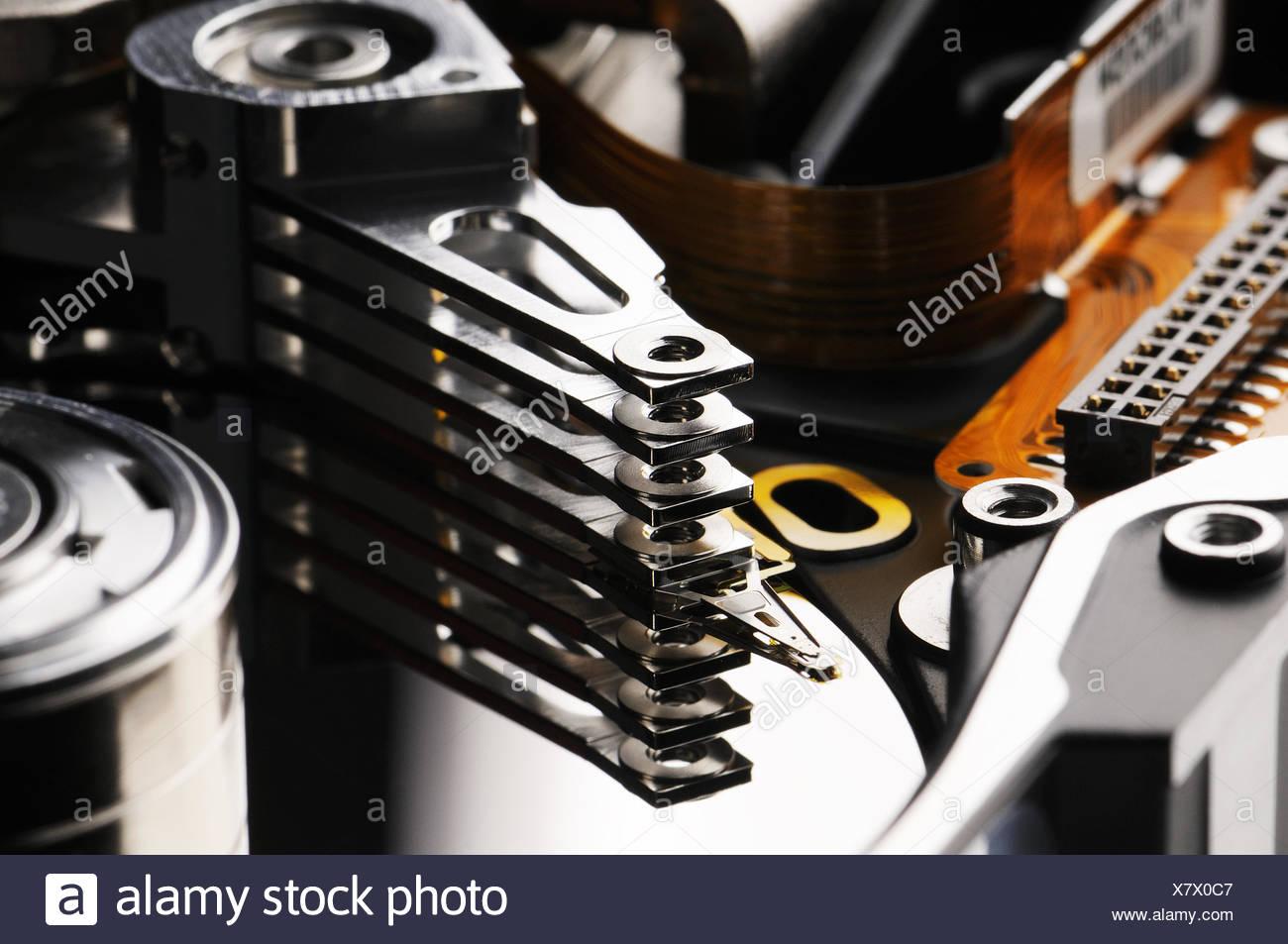Taken Apart Disk Background - Stock Image