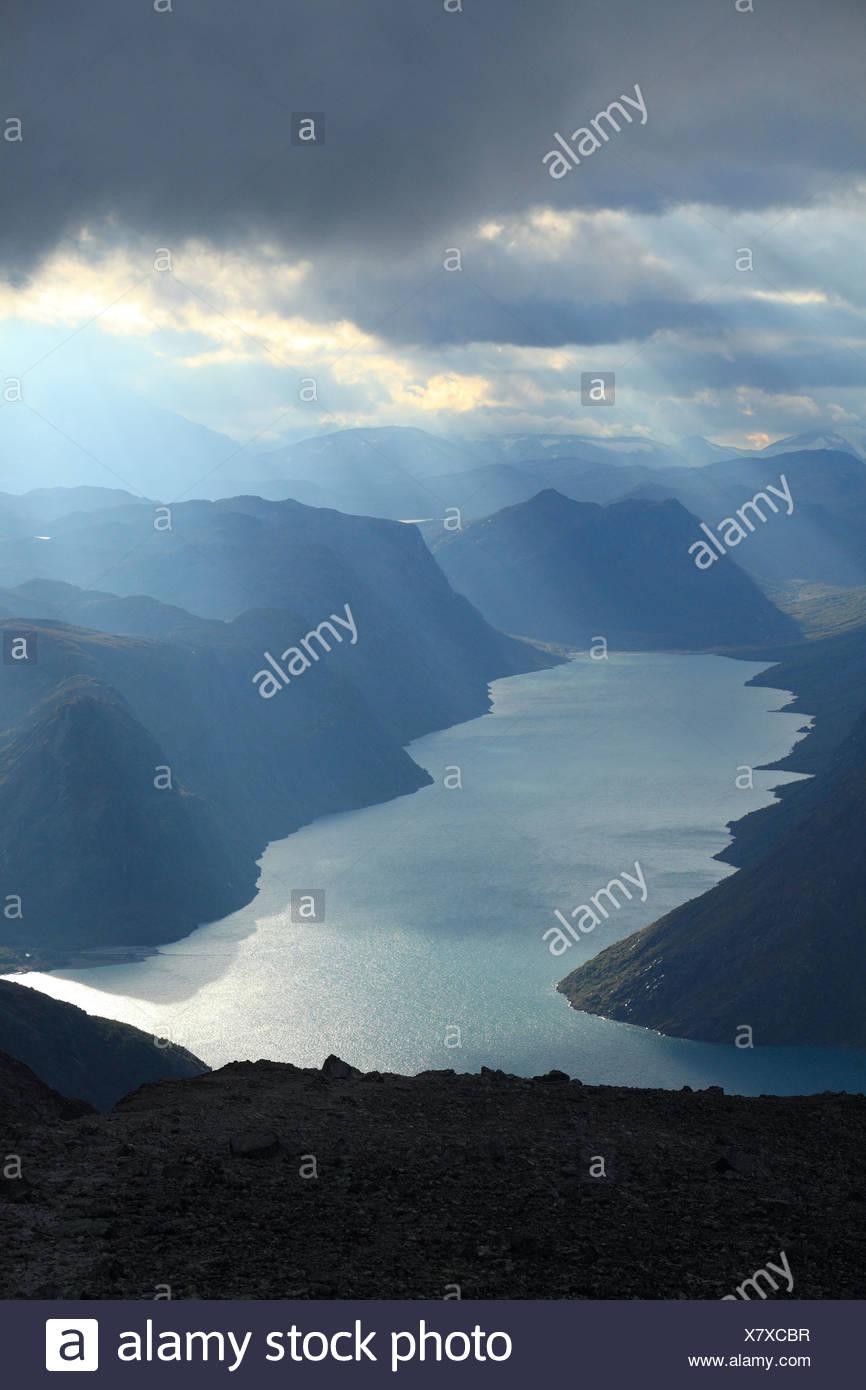 Besseggen Jotunheimen Norway - Stock Image