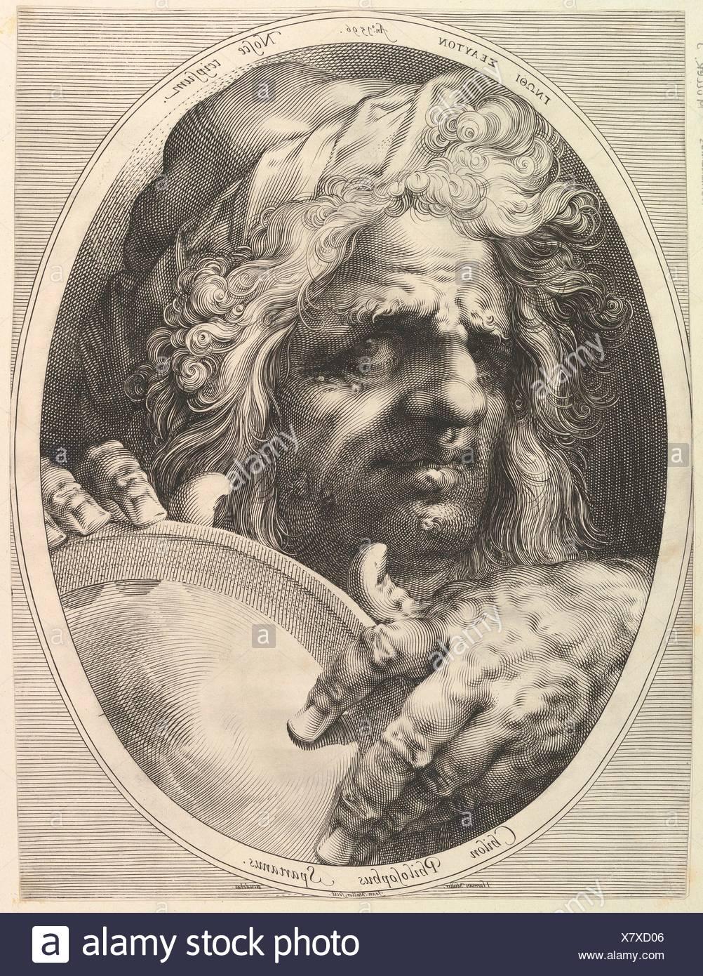 Chilon, Legislator & Philosopher of Sparta. Artist: Jan Muller (Netherlandish, Amsterdam 1571-1628 Amsterdam); Publisher: Harmen Jansz. Muller Stock Photo