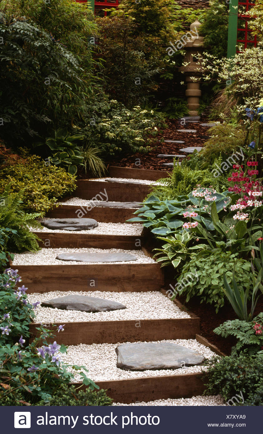 Gravel garden stock photos gravel garden stock images - The well tended perennial garden ...
