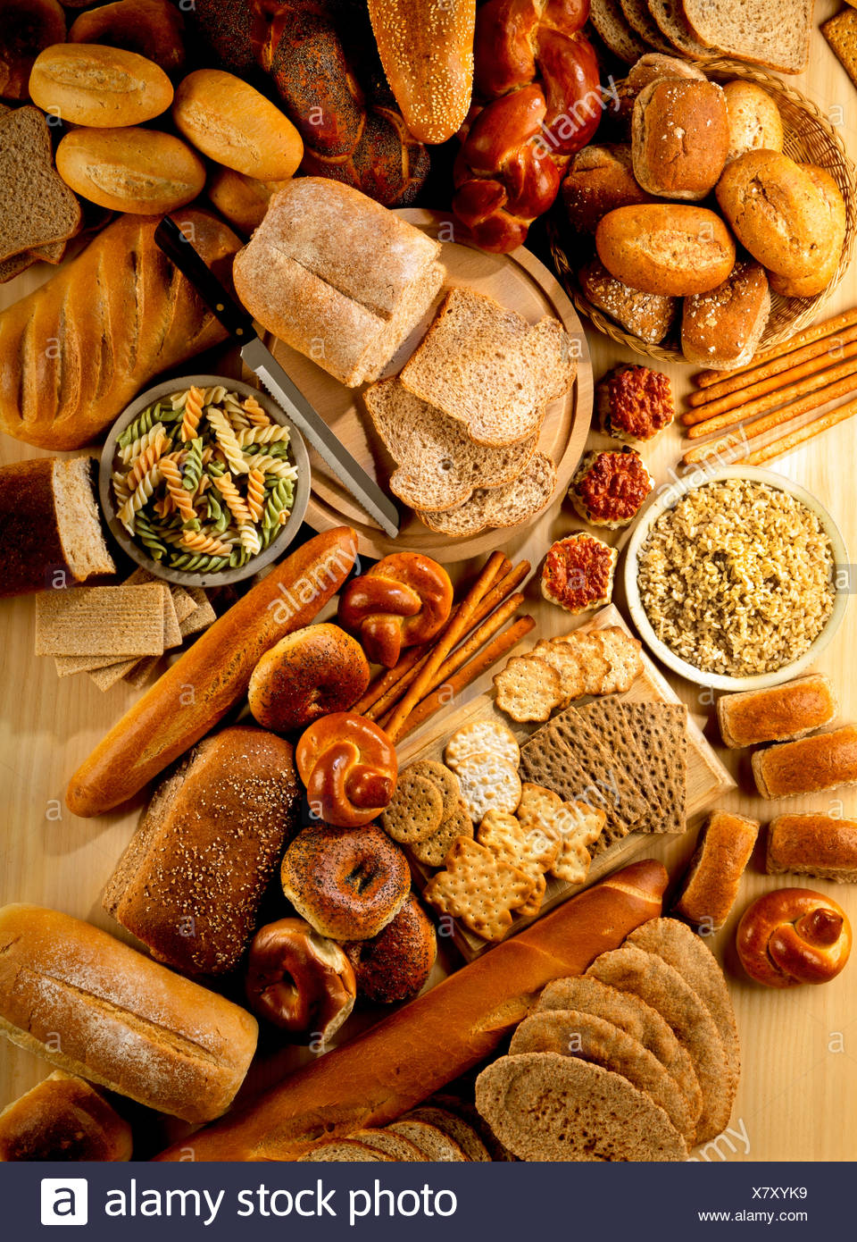 WHEAT FOODS - Stock Image