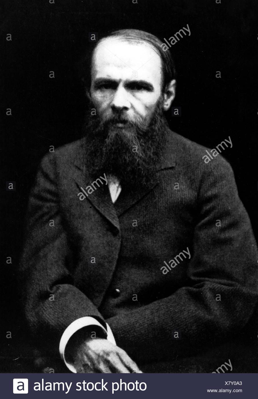 Dostoevsky, Fyodor Mikhailovich, 11.11.1821 - 9.2.1881, Russian writer, novelist, half length, Additional-Rights-Clearances-NA - Stock Image