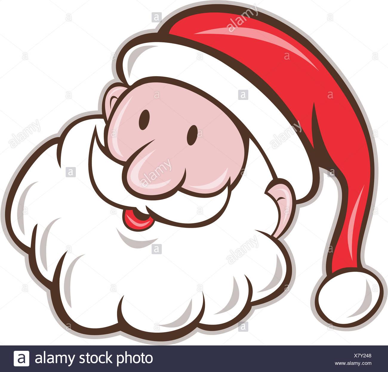 Father Christmas Cartoon Images.Santa Claus Father Christmas Head Smiling Cartoon Stock