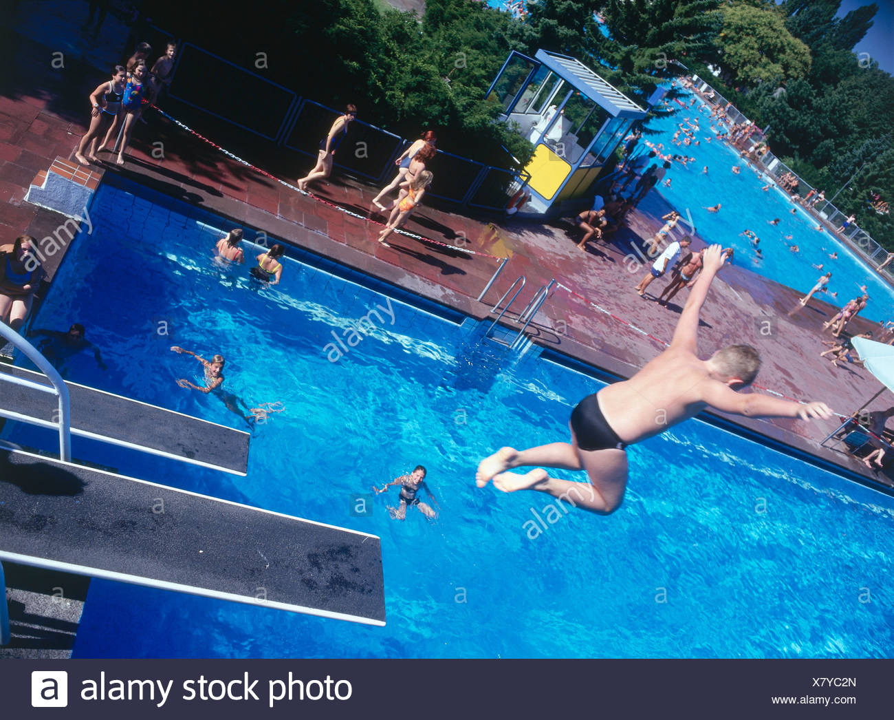 Jumping From Diving Board Stock Photos Jumping From Diving Board Stock Images Alamy