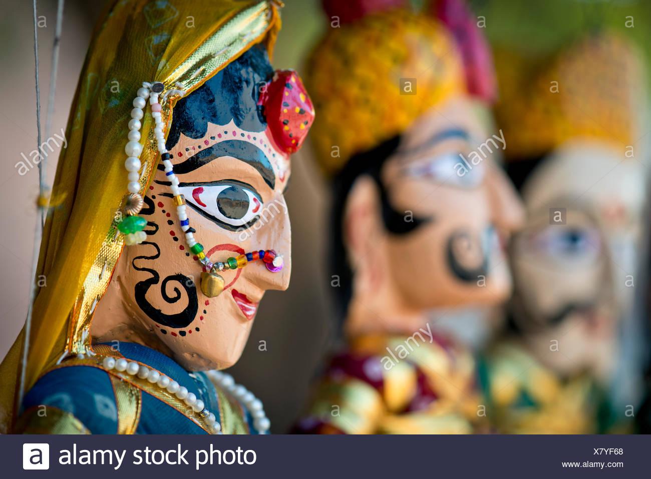 Marionettes, traditional crafts, Jodhpur, Rajasthan, India - Stock Image