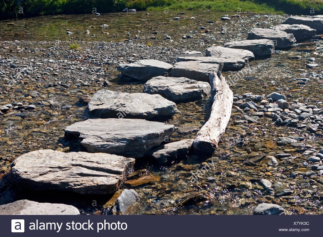 Wasser Bergang Steine Furt Felsen Berwindung Bach Wasser Bergang