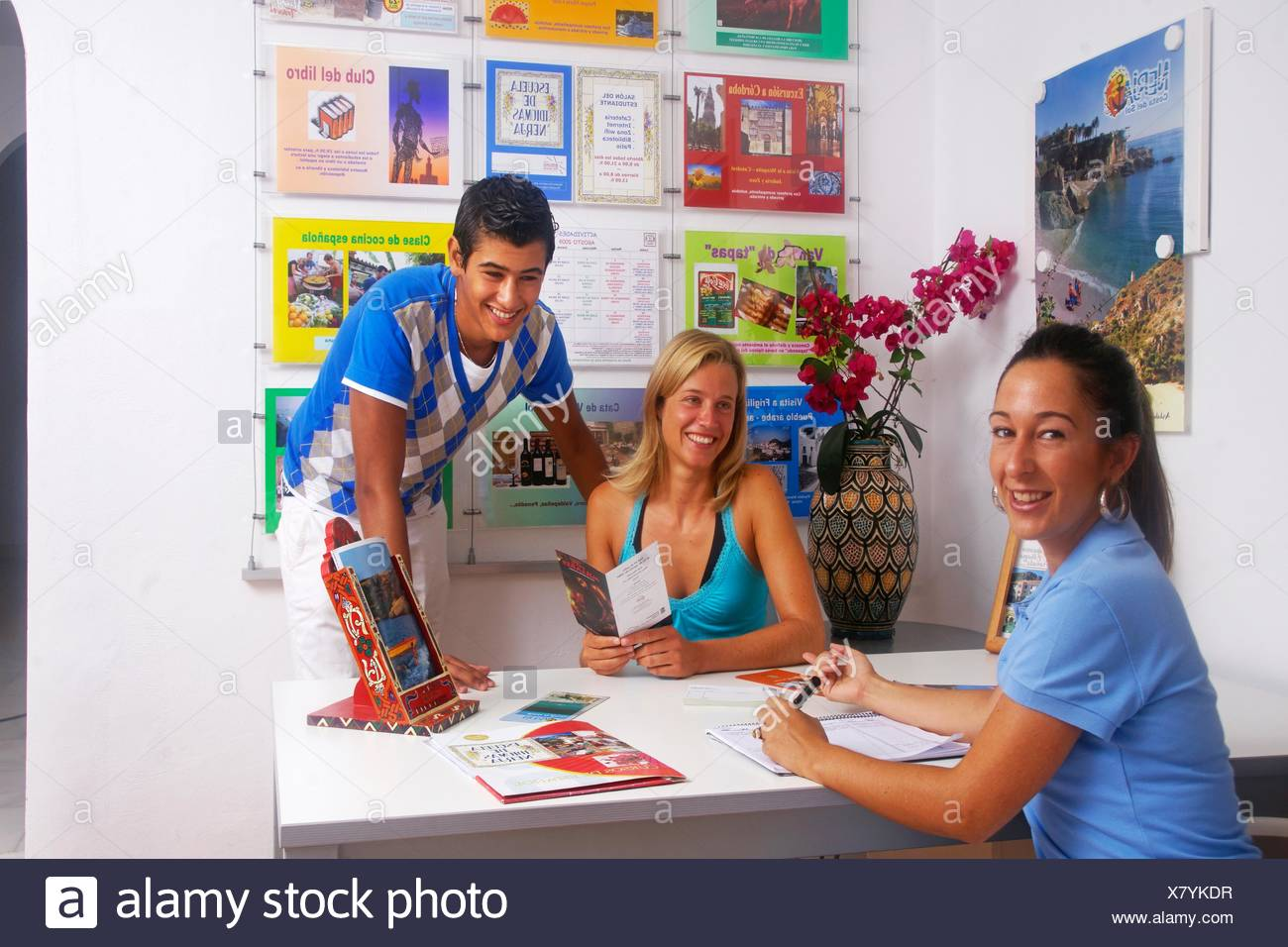 Excursions details at Spanish school for foreigners, Nerja, Malaga province, Andalusia, Spain - Stock Image