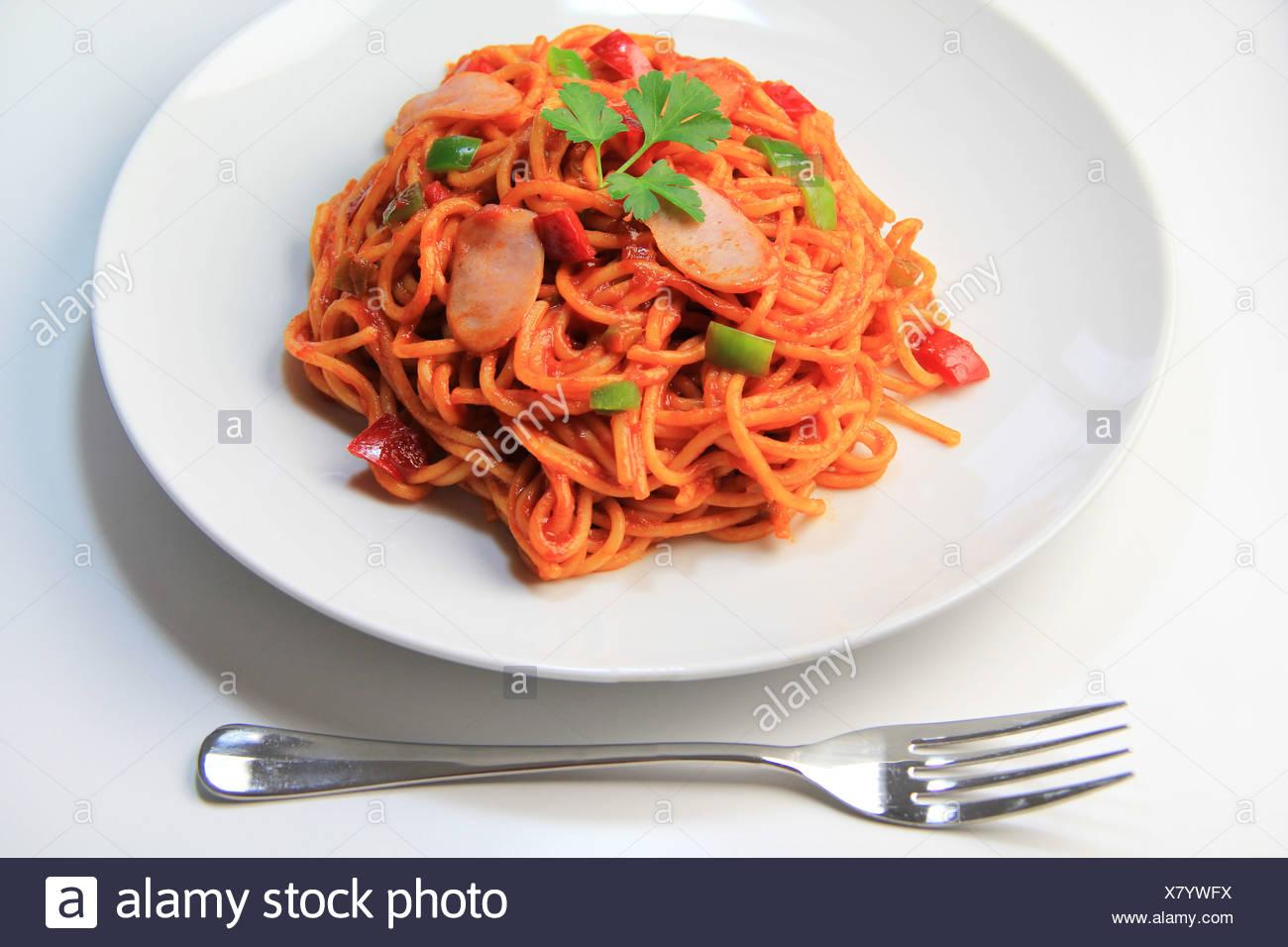 Spaghetti Napolitan Stock Photo Alamy