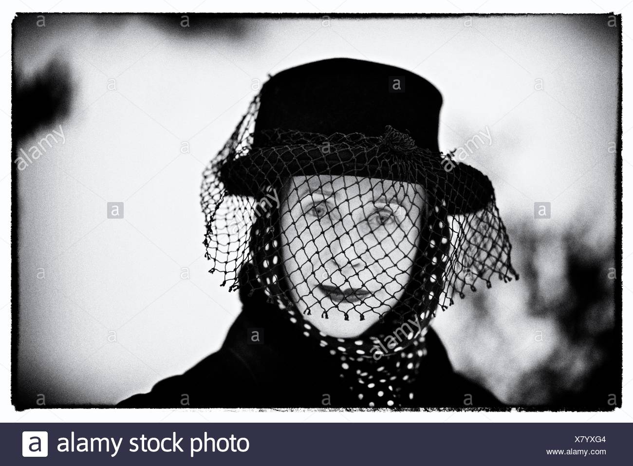 Portrait of artist, writer and theater producer, Beatrix Ost. - Stock Image