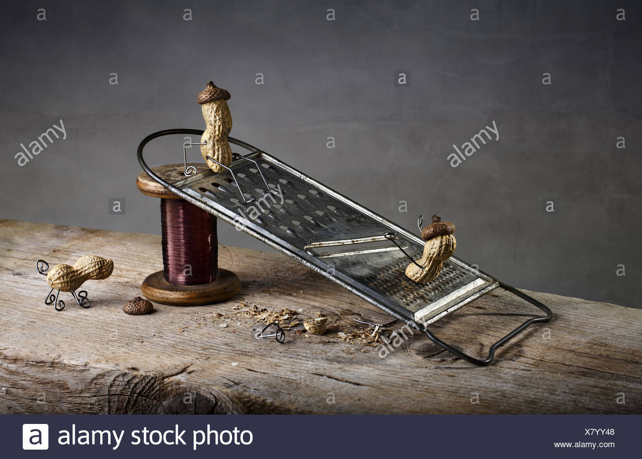 Simple Things - Sliding Down - Stock Image
