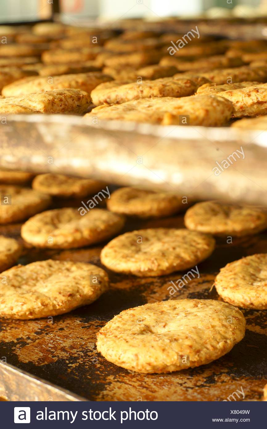 Cookies seafaring Gori Noceras, Muro, Pla de Mallorca Mallorca Balearic Islands Spain - Stock Image