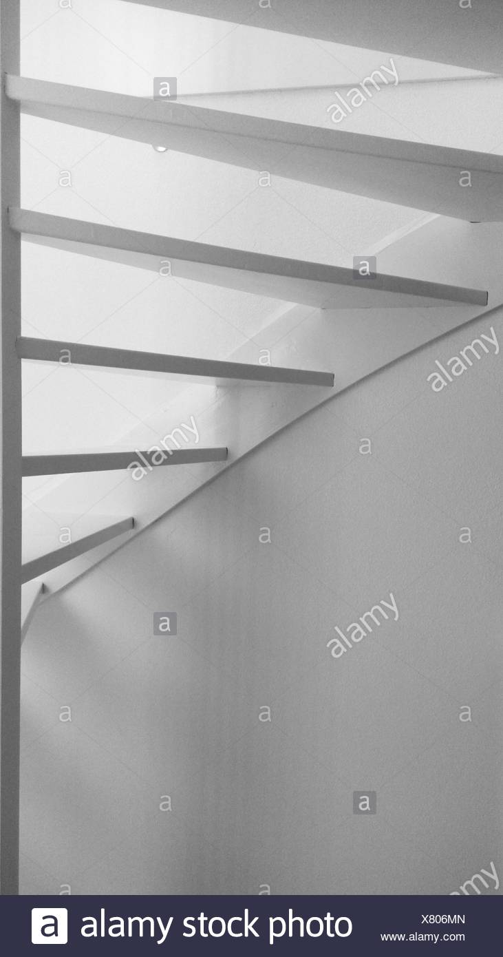 Low Angle View Of Stairways At Home - Stock Image