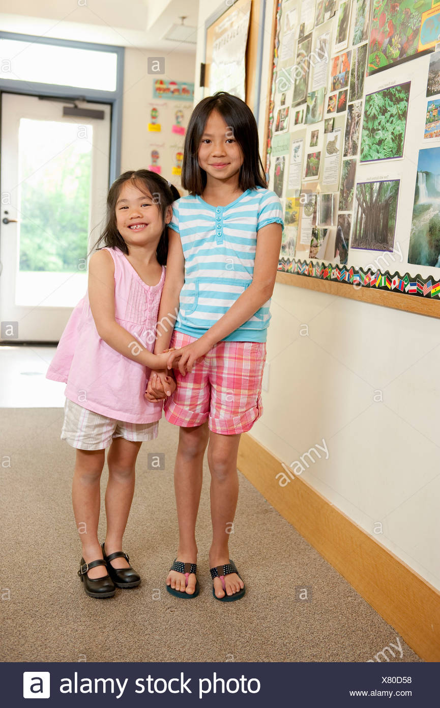 Elementary school friends - Stock Image