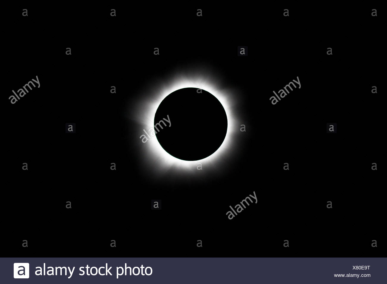 Total Solar Eclipse at 13 Nobember 2012, Pacific Ocean, New Caledonia - Stock Image