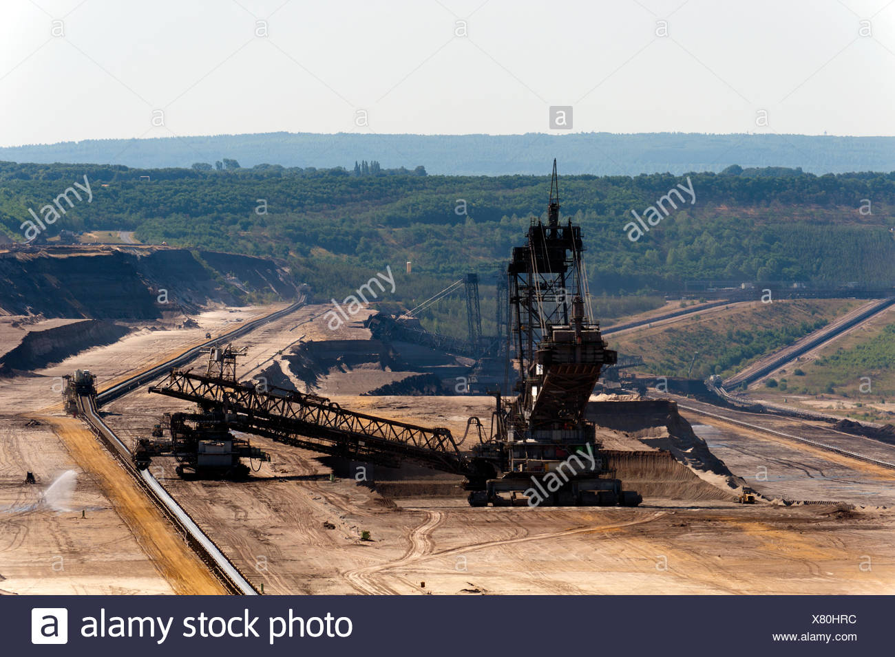 mining,opencast,pit mine - Stock Image