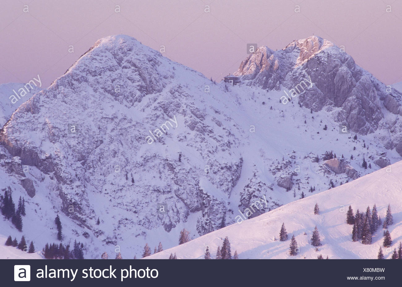 Winterliche Alpen Stock Photo