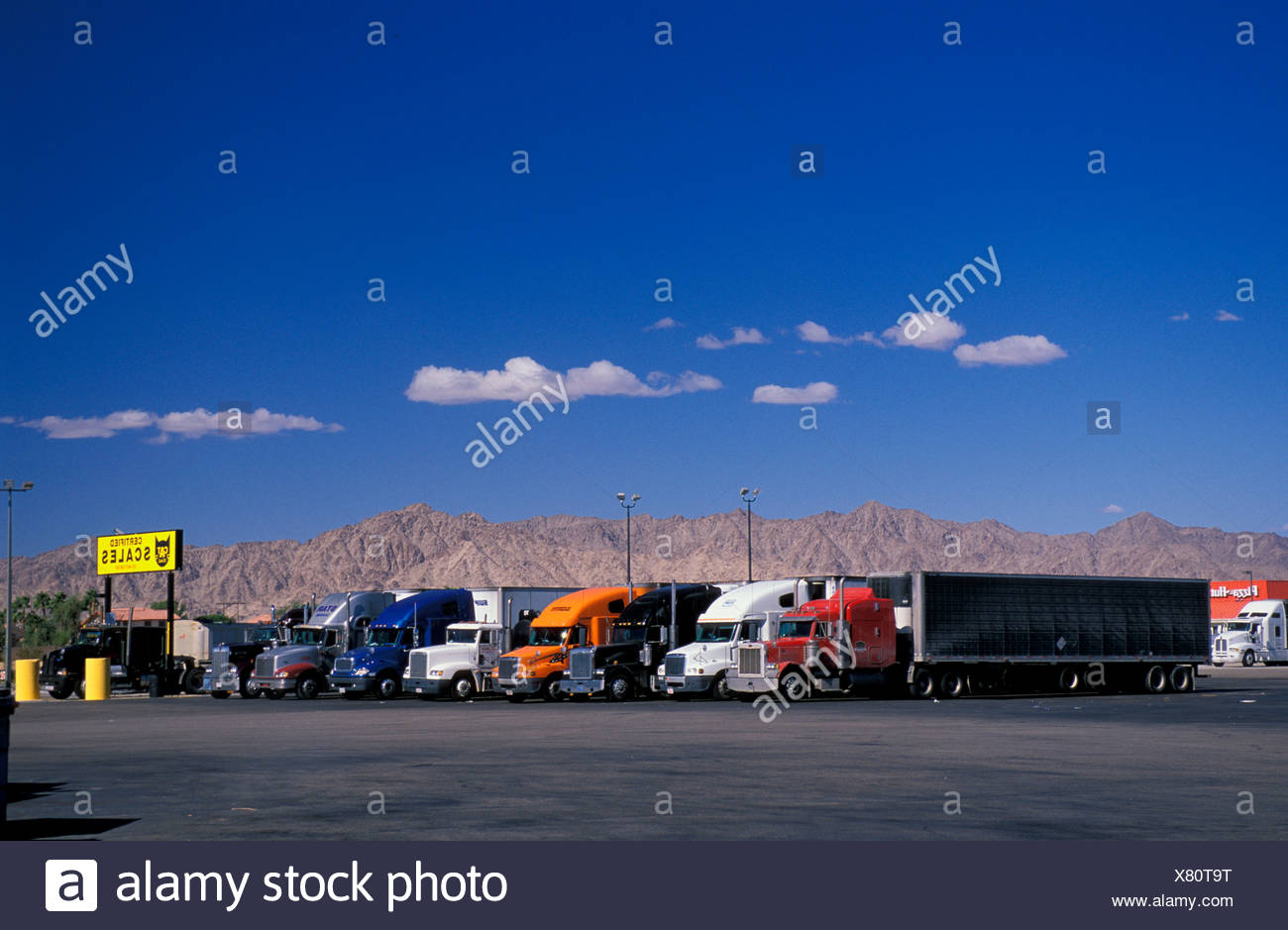 Truck Truck stop resting place parking lot motorway service area