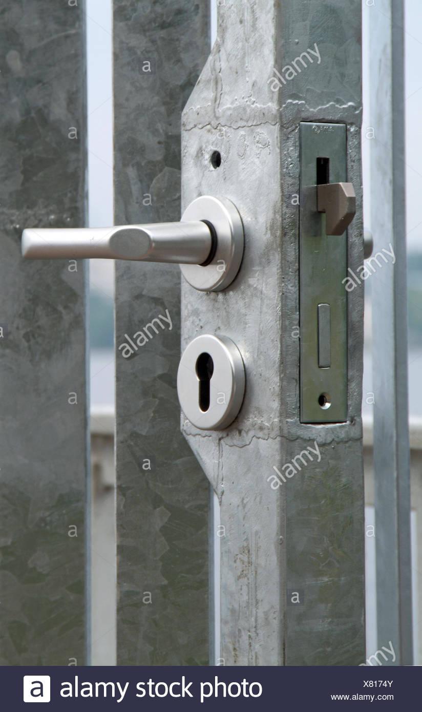 galvanized gates Stock Photo
