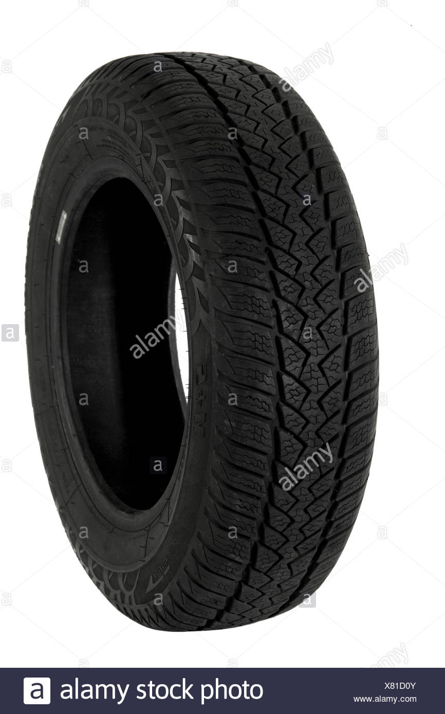 Tire, isolated on a white background - Stock Image