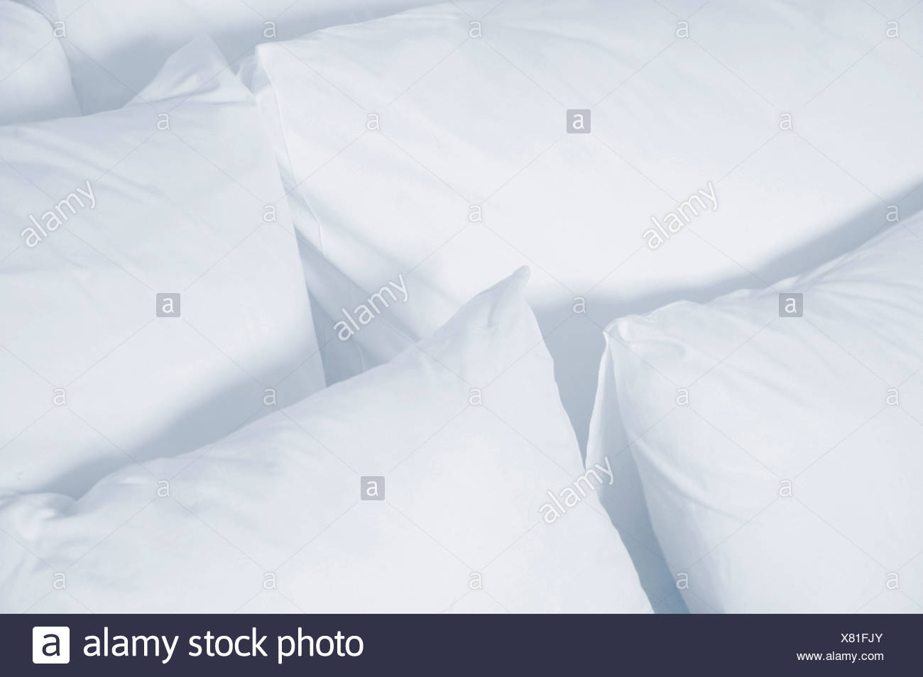 Fresh clean pillows - Stock Image