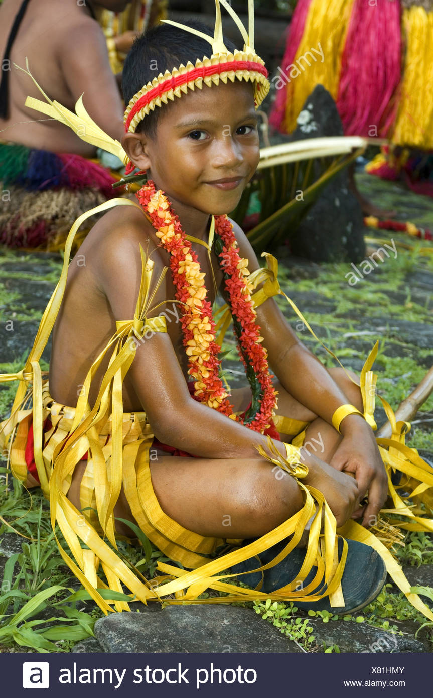 young Micronesian boy, Federated States of Micronesia - Stock Image