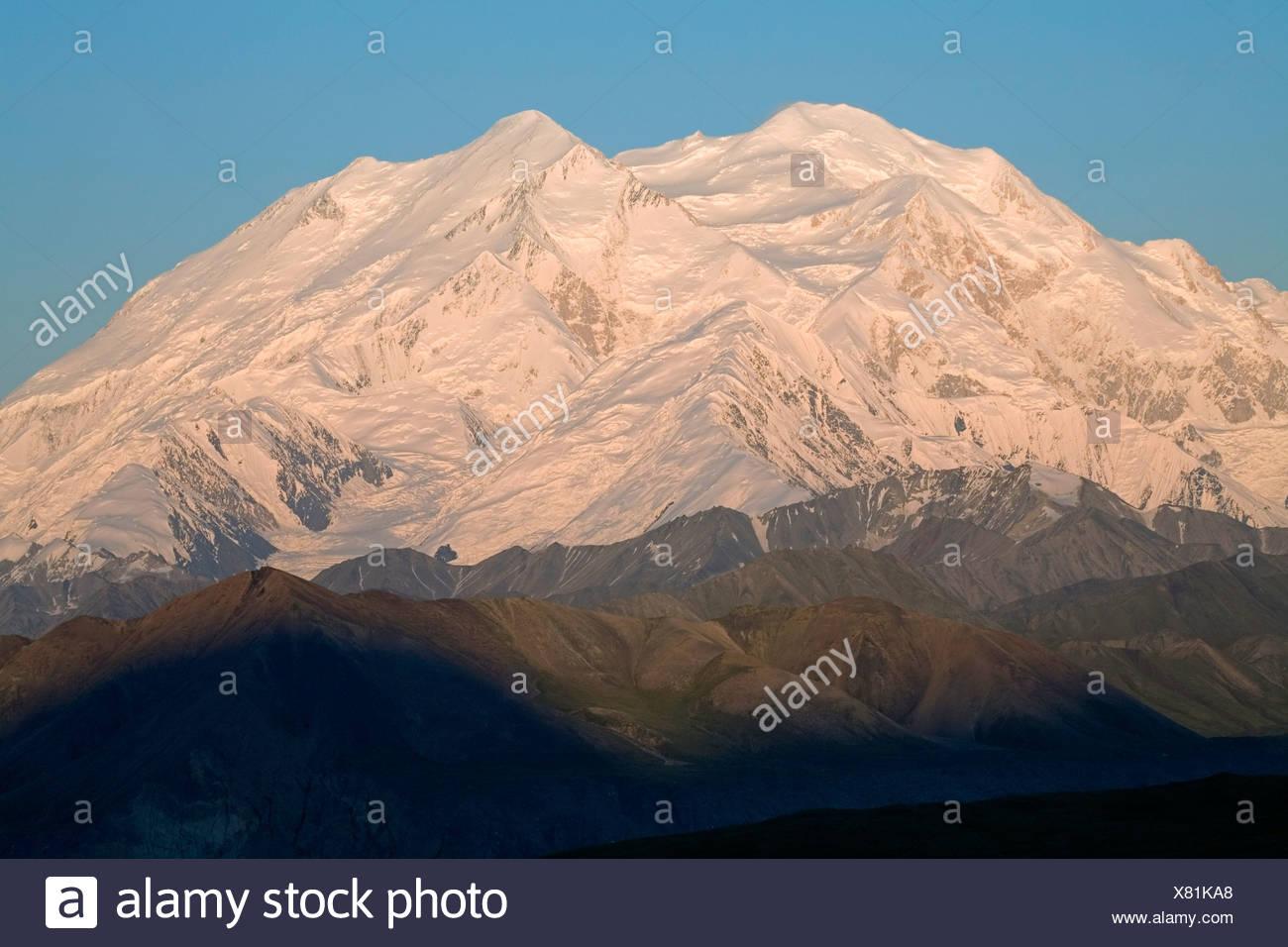 Mt.McKinley as seeen from Eielson Visitor Center summer Denali National Park Alaska Stock Photo