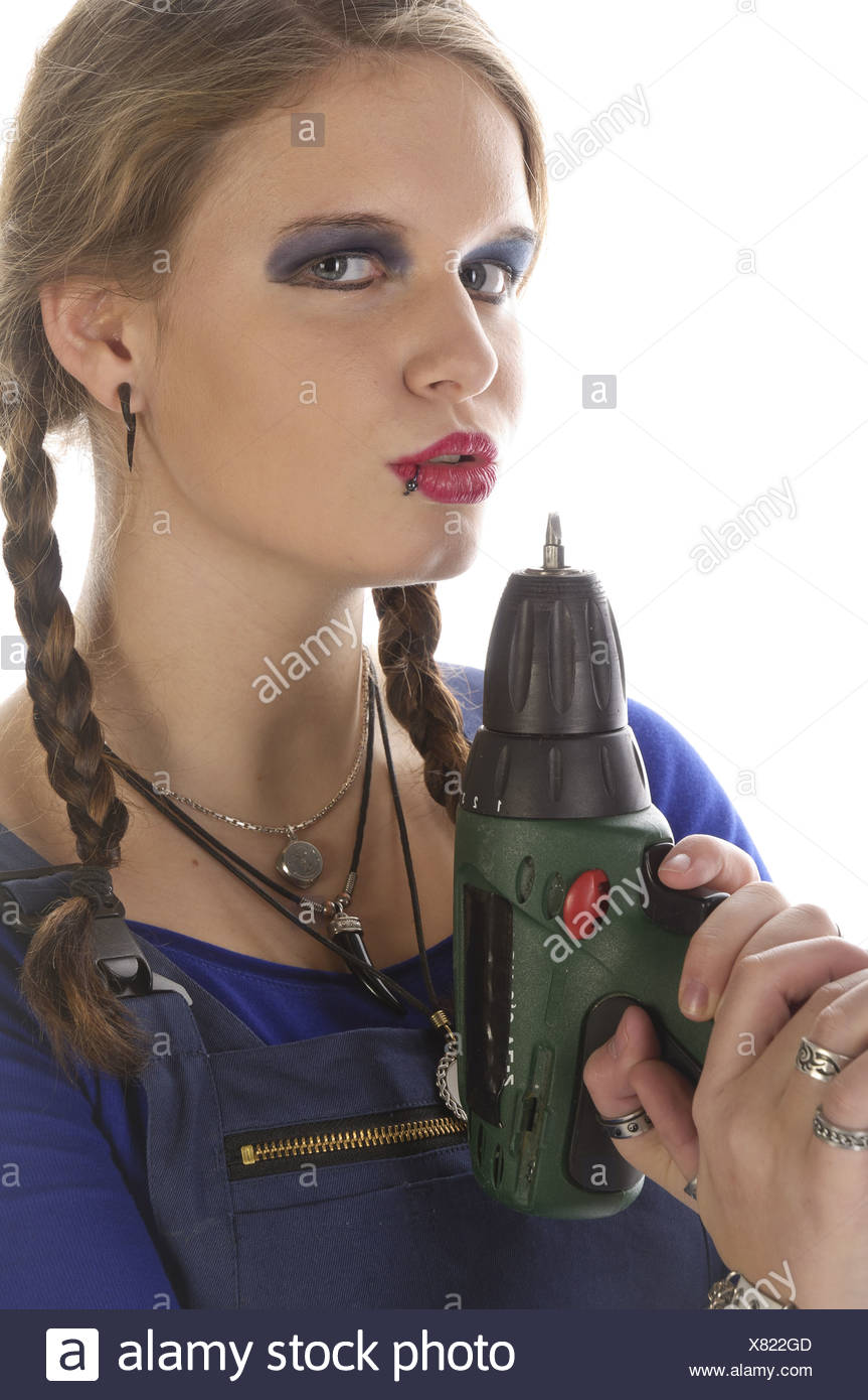 Unconventional workwoman - Stock Image