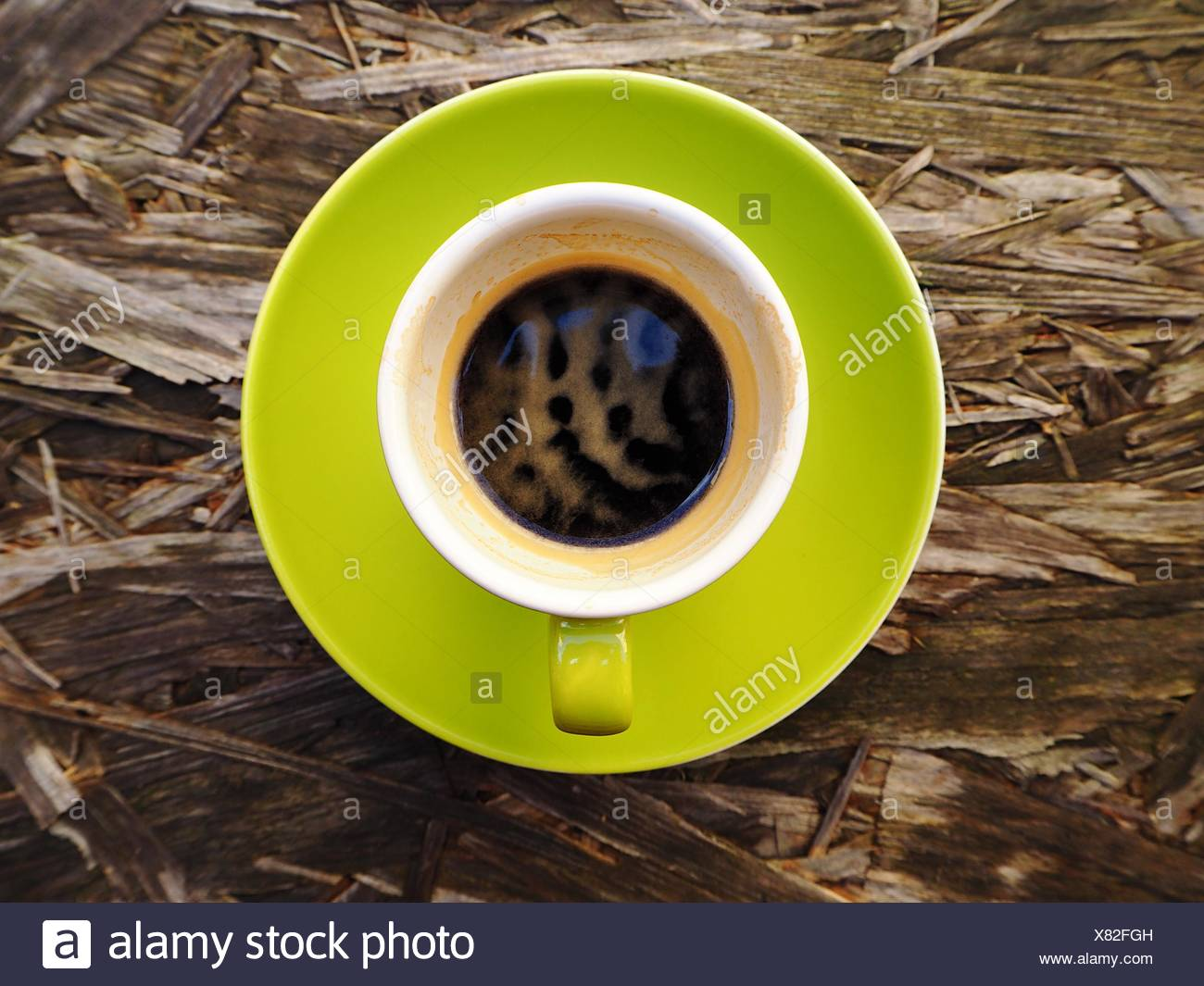 Directly Above Shot Of Espresso Coffee - Stock Image