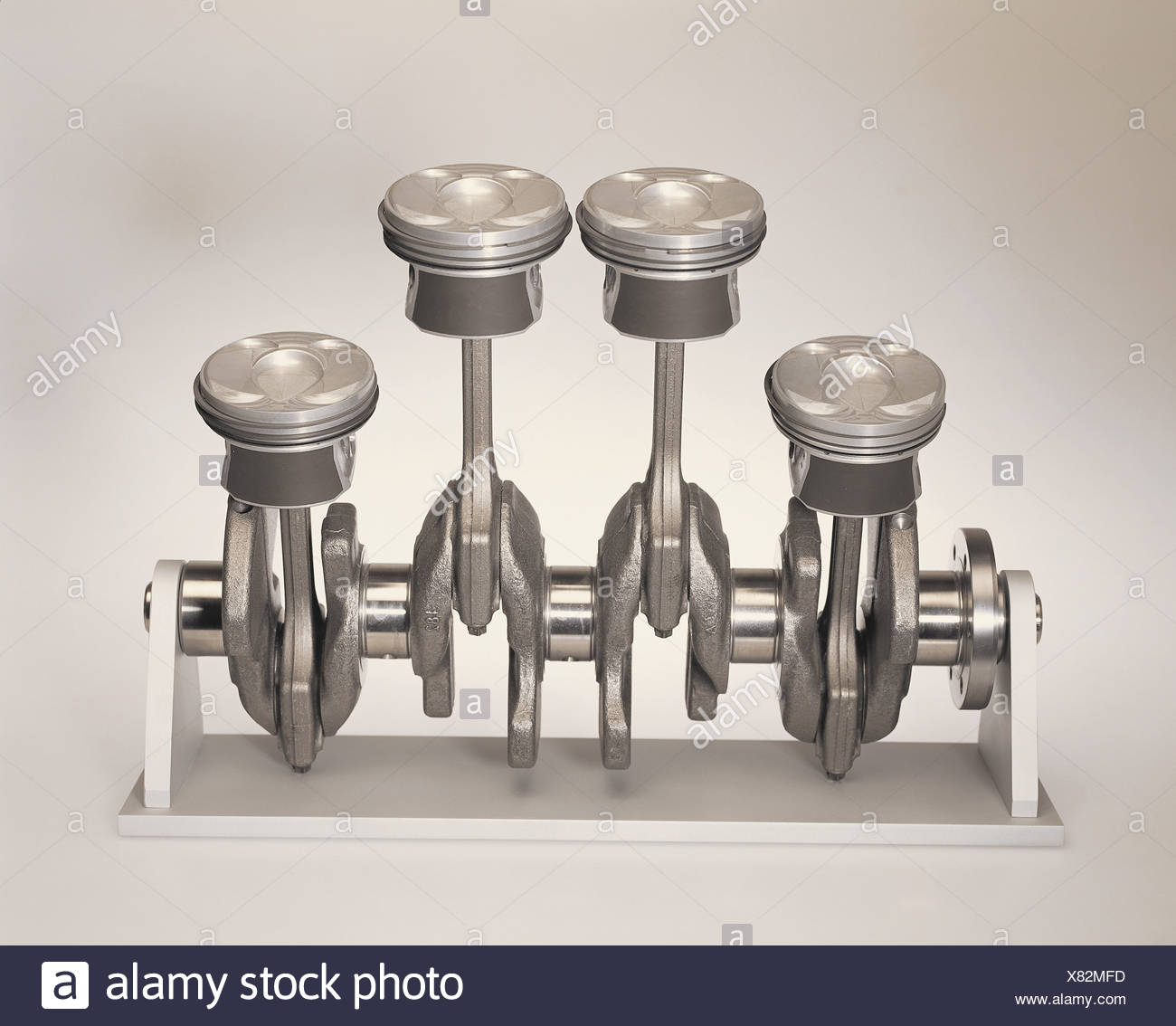 Crankshaft pistons conrod motor-parts crank-mechanisms clipping path clipping path pistons crank-mechanisms crankshaft - Stock Image