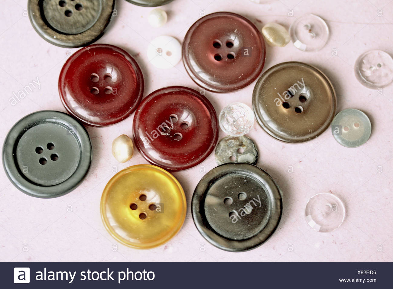 Red Coat With Large Buttons Stock Photos & Red Coat With