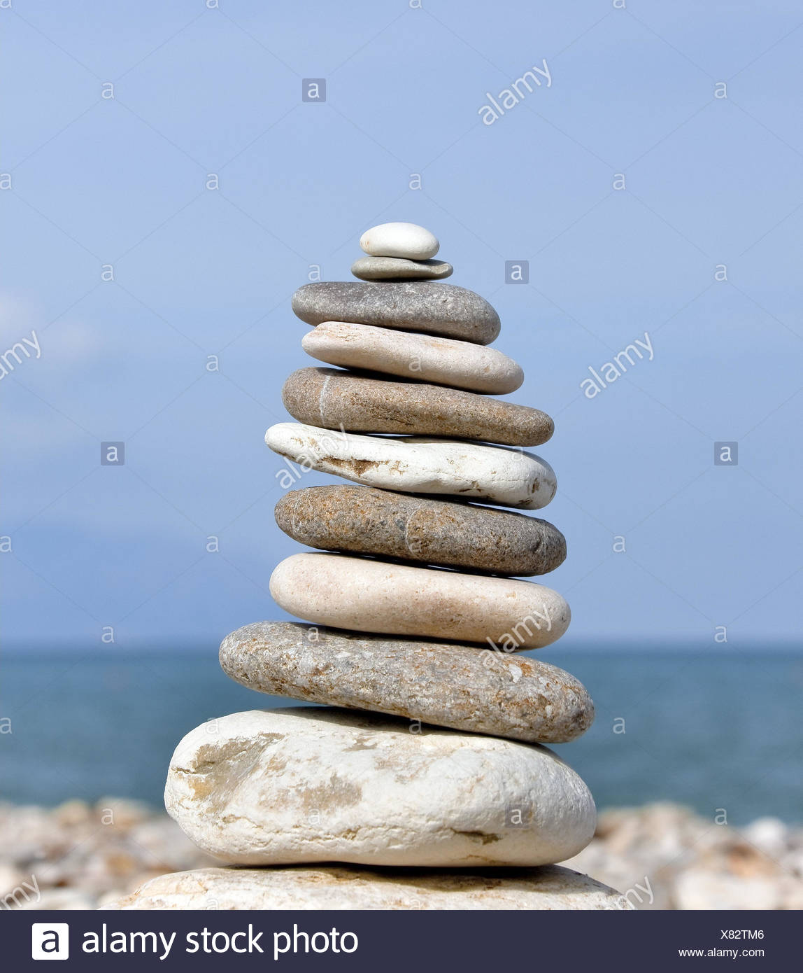 Stone tower, pile, outside, - Stock Image