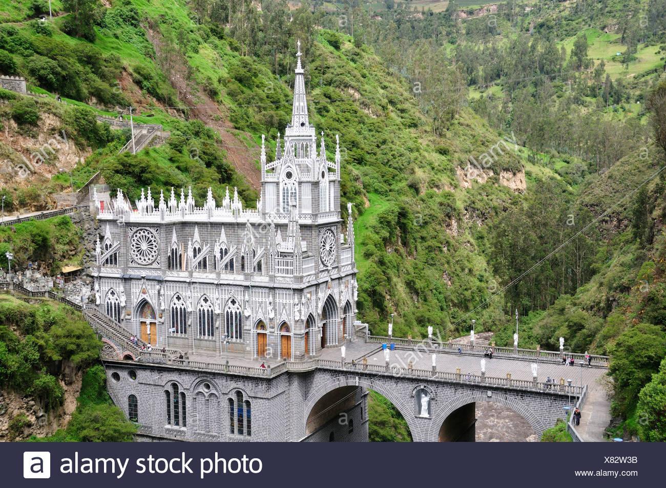 Santuario De Las Lajas Pilgrim Church Gothic Style Las Lajas