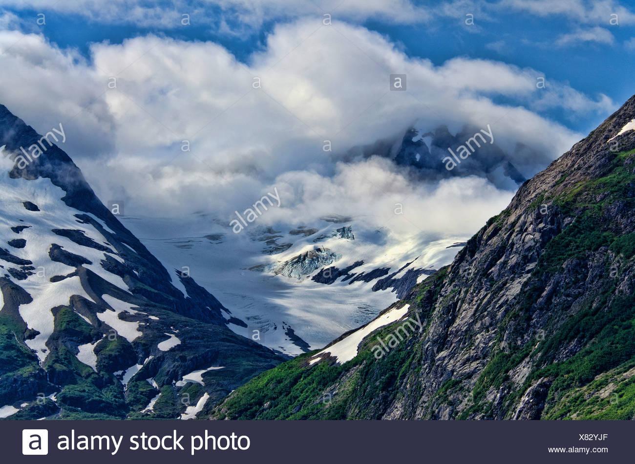 glacier, chugach, national forest, portage lake region, Alaska, USA, landscape - Stock Image